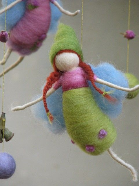 Needle felted mobile fairies game by Made4uByMagic on Etsy. $93.00, via Etsy.