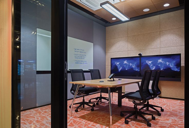 In-desk power solutions were used in this boardroom.