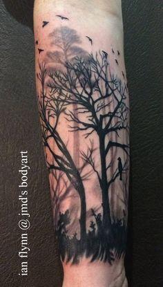 Forest Silhouette Tattoo 1000+ ideas about tree \x3cb\x3esilhouette tattoo\x3c/b\x3e on pinterest