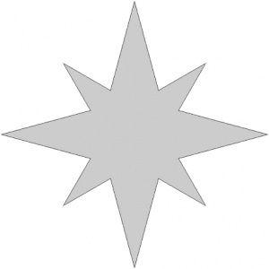 Vyřezávací šablona - Vyřezávací šablona - Hvězda 5 - vyšívání, náš ...