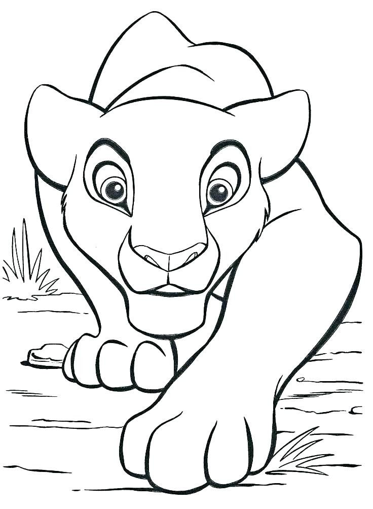 Baby Lion Coloring Page Youngandtae Com Lion King Drawings Lion Coloring Pages King Drawing