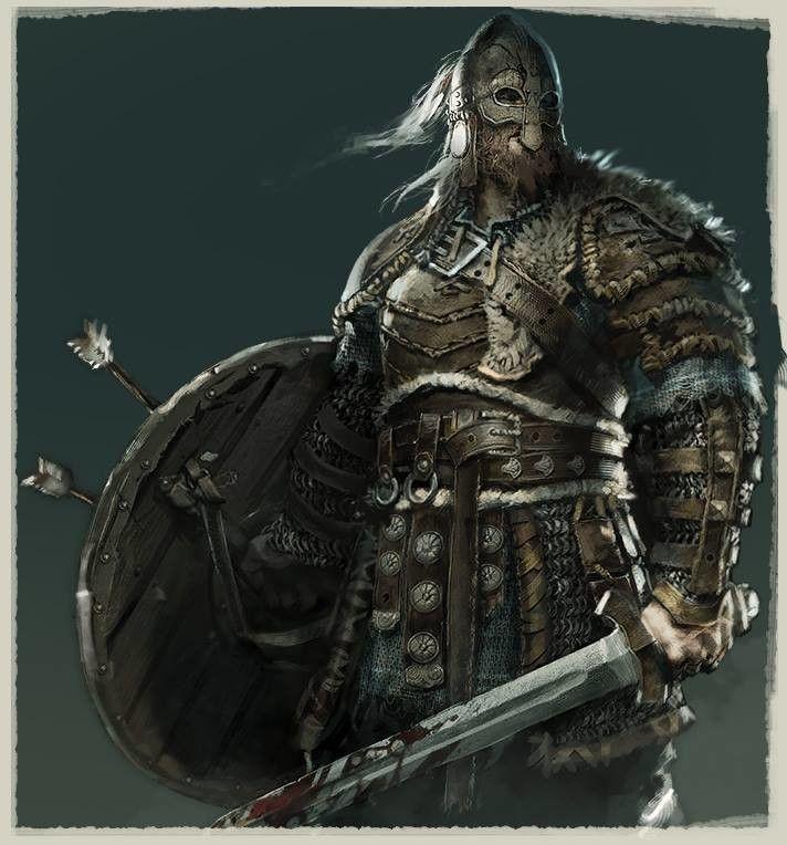 For Honor Viking design, Remko Troost on ArtStation at https://www.artstation.com/artwork/5dnKE