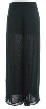 Tadashi Shoji Black Stretch Mesh Wide Leg Pant 22Q Tadashi Shoji. $269.99