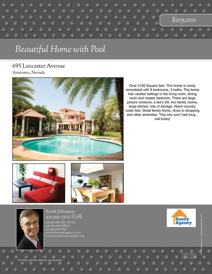 Beautiful real estate flyers that you can