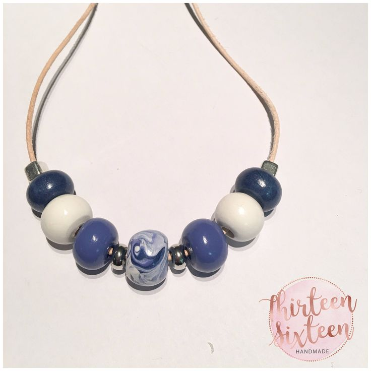 Polymer Clay Necklace 'Skye' by thirteensixteen on Etsy