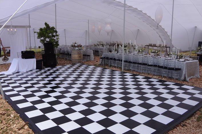 Black & White modular dance floor