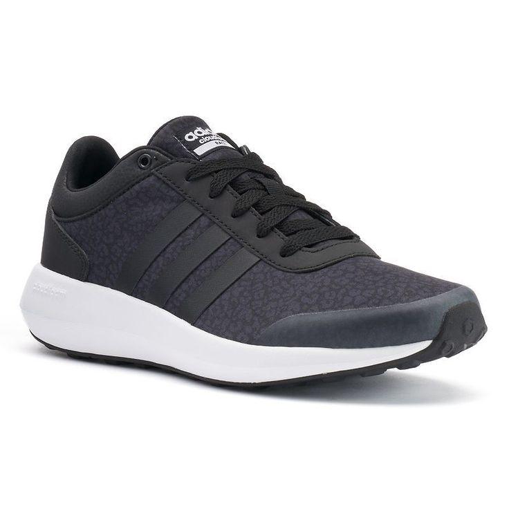 Adidas NEO Cloudfoam Race Women's Leopard Print Sneakers, Size: