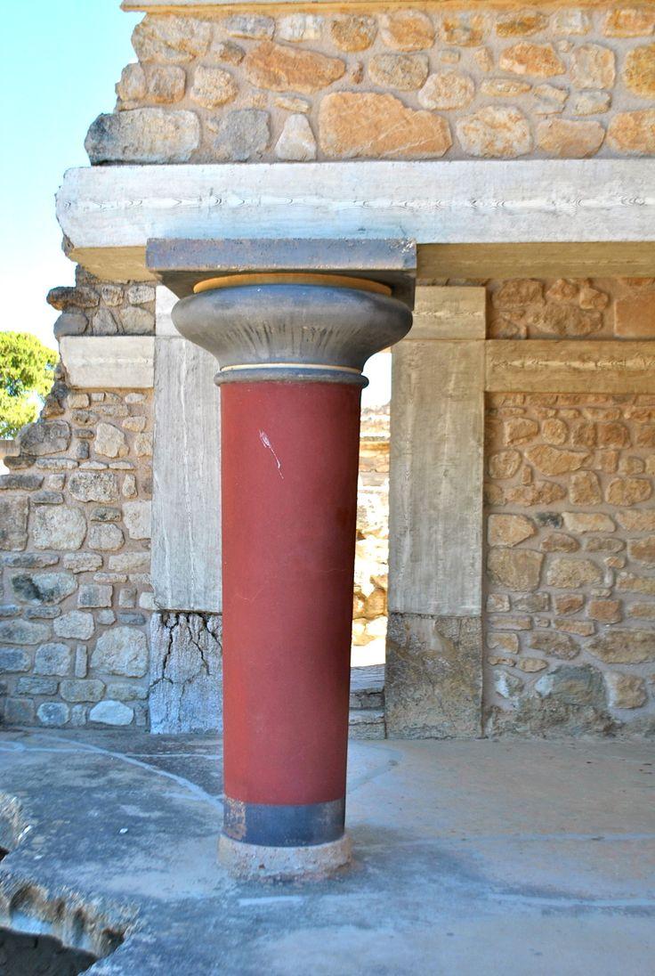 O palácio de Knossos, em Creta
