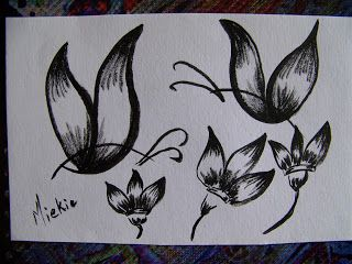 A Pretty Talent Blog: Using Posca Marker to draw a butterfly (step by step) Card