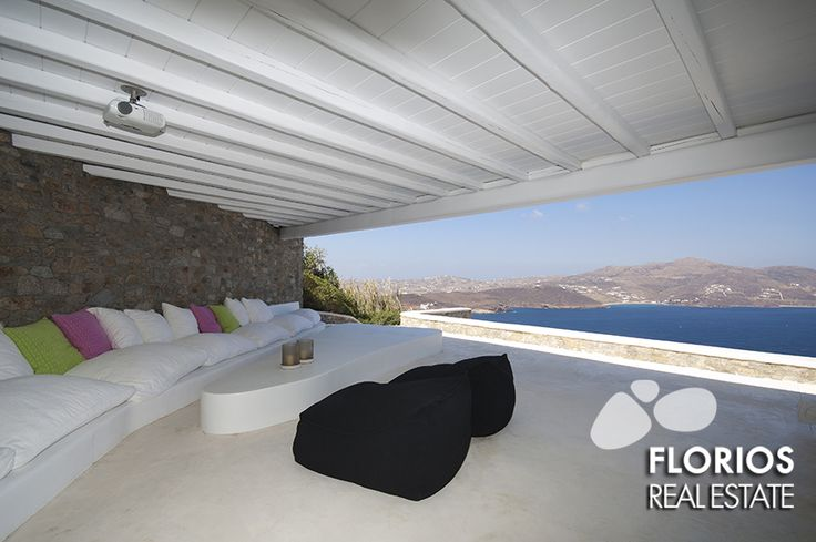 Outdoor area: 1. Area with sofa in front and area with sofa back 2. One storage room under the pool 60 sqm 3. Pool with the outside area 4. Dining room / bar / shower and area with sofa Villa for Sale on Mykonos island Greece http://www.florios.gr/en/mykonos-property/24.html
