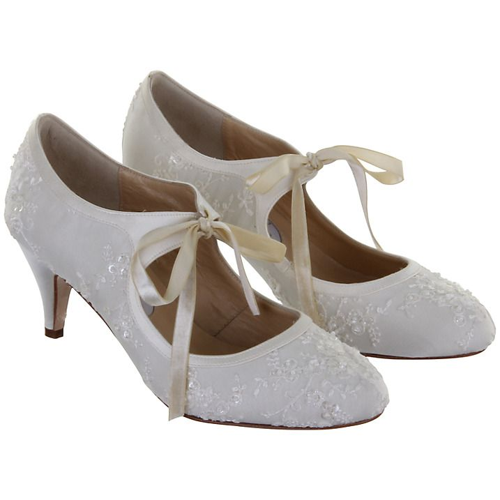 Buy Hassall For Rainbow Miss Alice Mary Jane Heels Ivory 3 Online At Johnlewis Vintage Bridal ShoesWedding