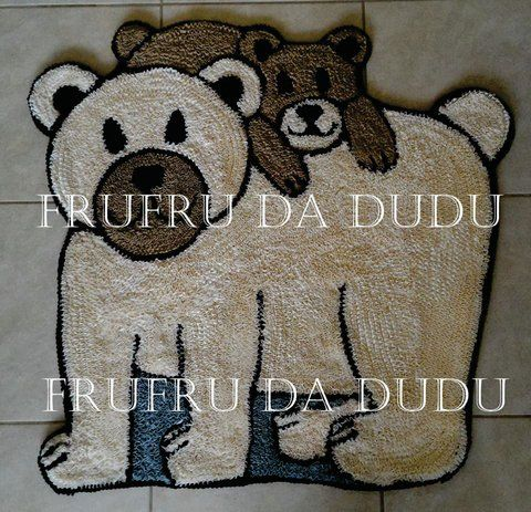 Tapete  Frufru de Urso