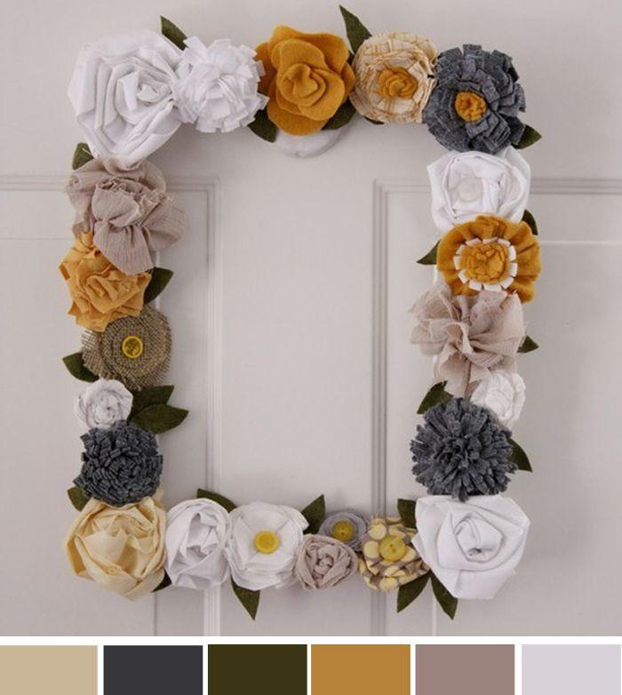 Inspirations of the Week: Decoração em quadro com flores
