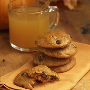 Spiced pumpkin cookies
