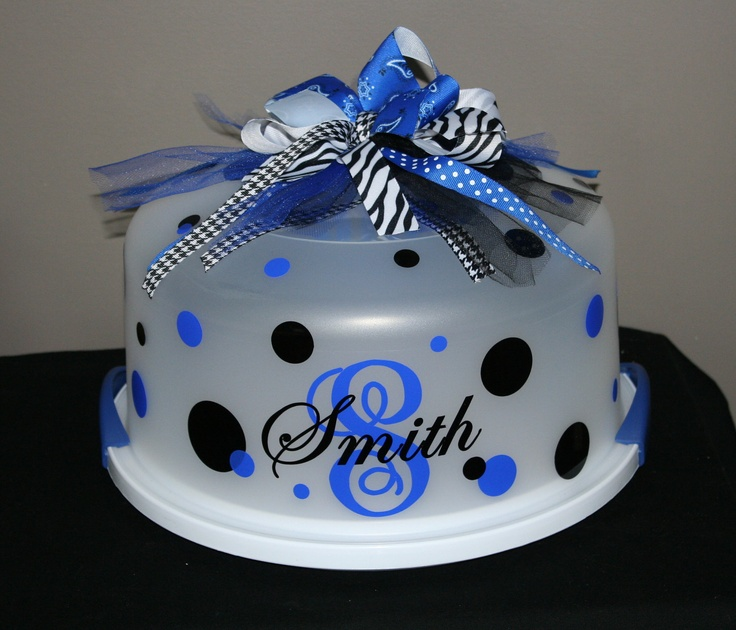 Personalized Cake Carrier - For MOM. add a cake mix, frosting and serving knife.