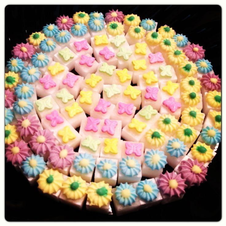 Decorative sugar cubes for tea party