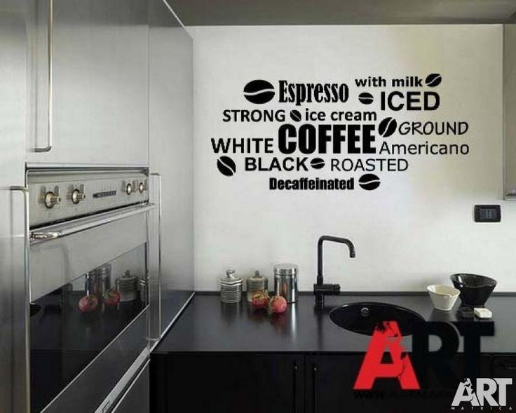 falmatrica  Kávészemek kávé feliratok