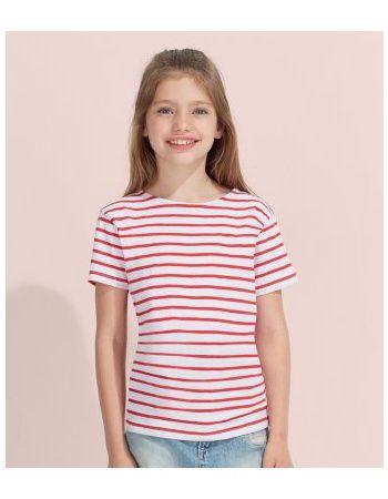 Pextex.cz - Dětské pruhované triko s krátkým rukávem Sol's