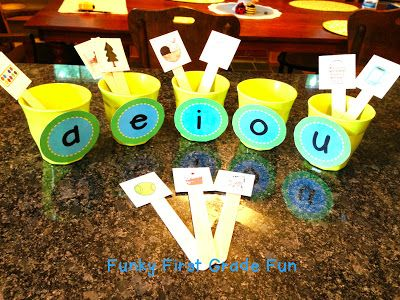 Funky First Grade Fun: Game Storage & Funky Fun Vowel Games