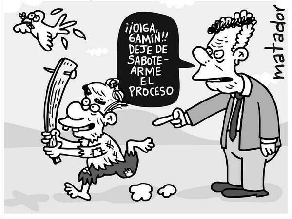 !! Oiga Gamin!! deje de sabotearme el proceso... #caricatura by Matador