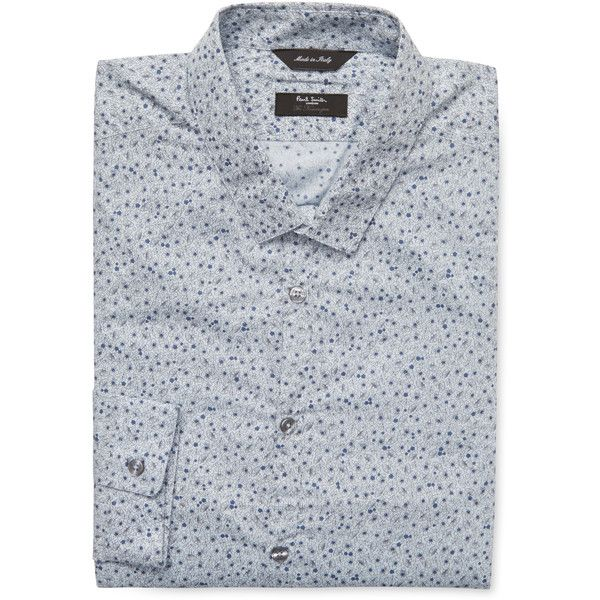 Paul Smith Men's Tailored Floral Dress Shirt - S - Size 16 (10780 RSD) ❤ liked on Polyvore featuring men's fashion, men's clothing, men's shirts, men's dress shirts, s, mens dress shirts, mens tailored shirts, mens floral print shirts, mens short sleeve dress shirts and mens floral shirts