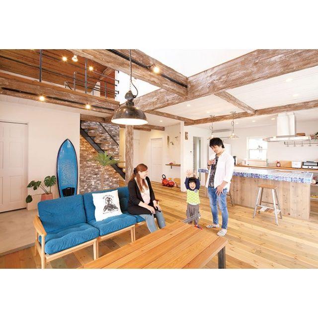 富士市にある「富士ホームズデザイン」の新築施工例「小物までバランス良く揃えた 憧れのサーファーズハウス」の紹介ページ。【イエタテ】は新築やリノベーションの事例から、完成見学会や相談会などイベント開催情報など情報満載!