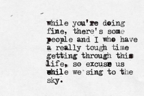 Screen - Twenty One Pilots One of my favorite lines. So full of emotion.
