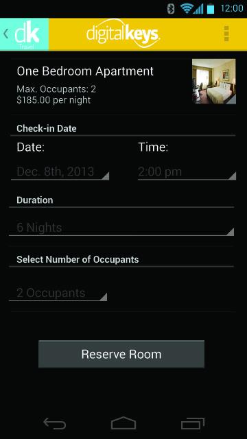 Digital Keys Travel App screenshot