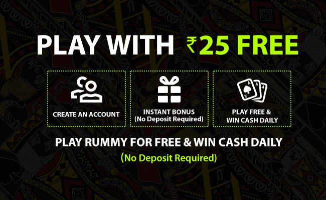 Avail Rs 25 to start playing rummy on Jungleerummy.
