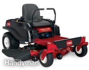 Zero turn radius riding lawn mower
