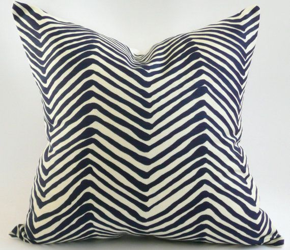 Quadrille Alan Campbell Zig Zag Pillow Cover by WestEndAccents