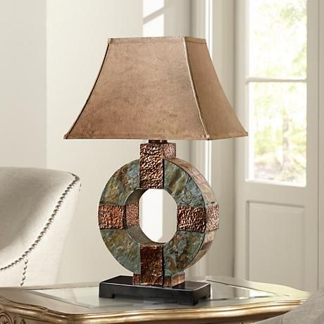 Uttermost Slate Circle Indoor-Outdoor Table Lamp