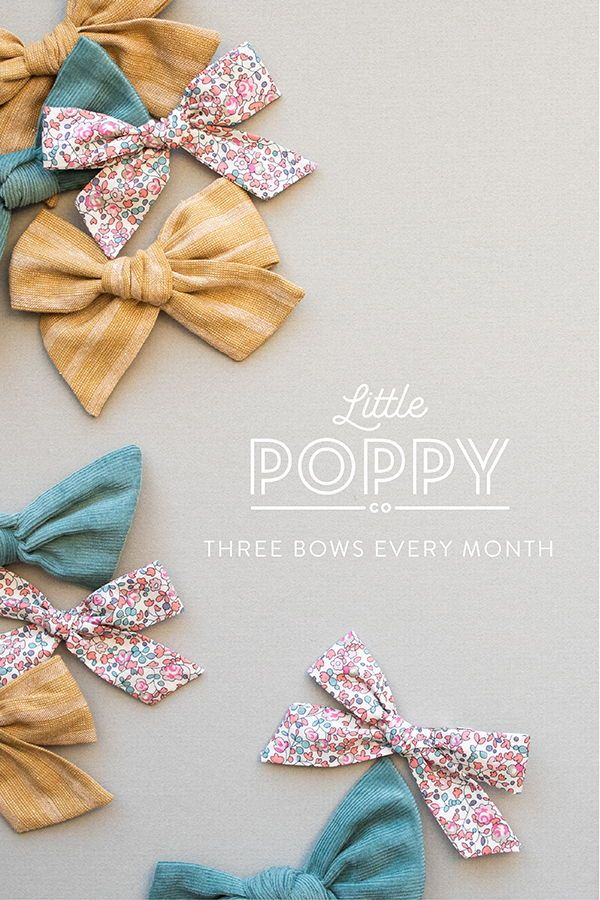 Hair Bow Clips Little Poppy Co