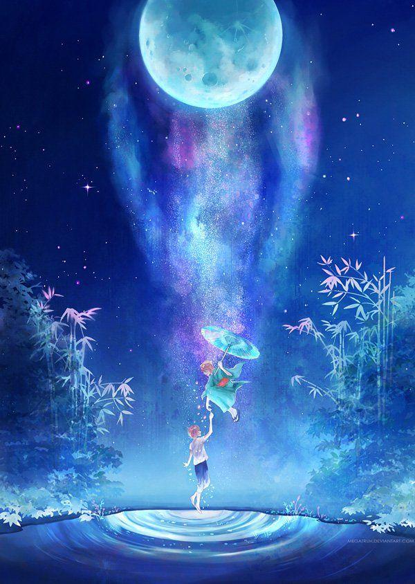 spirit from the night sky   by megatruh - Landscapes & Scenery Digital Art by Niken Anindita