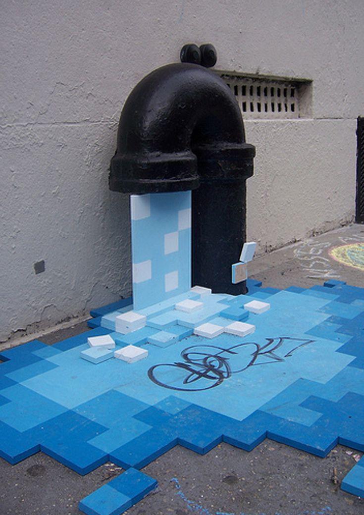 Street art by Kello Goeller http://restreet.altervista.org/pixel-pour-di-kello-goeller/