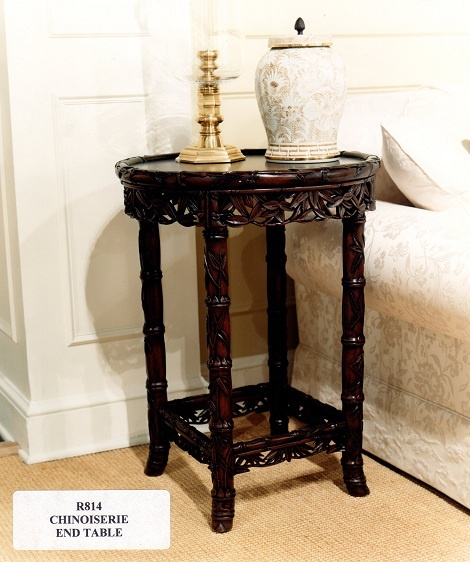 Ralph Lauren Chinoiserie End Table (retired / Vintage) French Walnut Finish  Www.PacificHeightsPlace
