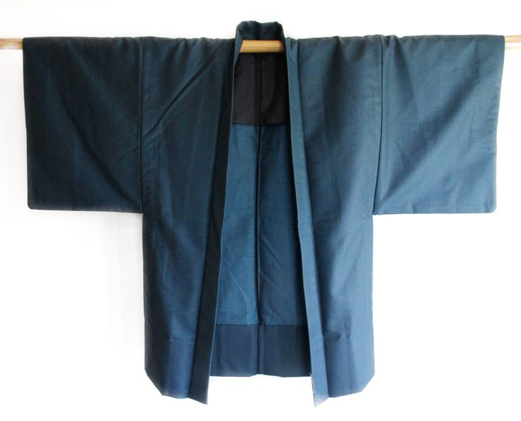 Mens Blue Japanese Vintage Kimono Jacket (Haori), Costume for Him, Father's Day Gift by CJSTonbo on Etsy