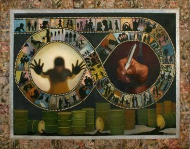 "Saatchi Art Artist Seba Art Gallery; Painting, ""AFET YAYLA"" #art"