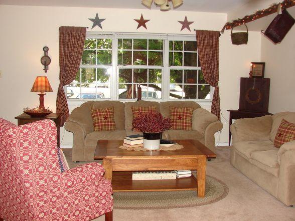 128 best images about Primitive living rooms on Pinterest