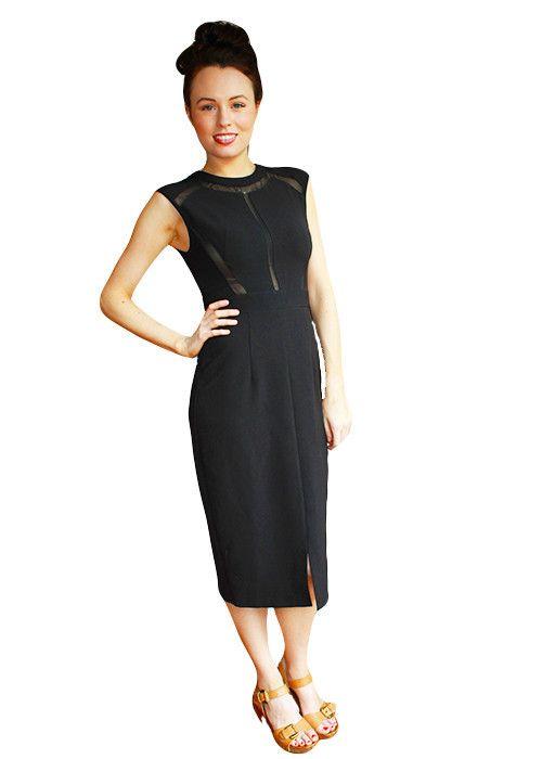 Black Sheike cut-out dress size 8