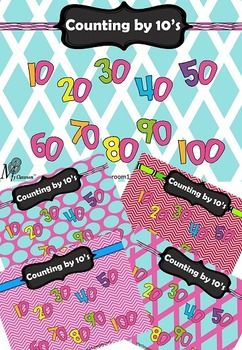 This fun and colourful FREE Counting by 10's bundle of posters is designed to assist students in learning to count by 10's in a fun and colourful way. You have the choice of 5 great posters to mix and match with your classroom colour scheme. I suggest that it is best to print this poster off in A3 size to have an impact in your classroom, laminate and then hang up.I hope you love this resource and I look forward to hearing your feedback and comments.
