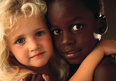"""kids see kids, and not colour differences...if they could only be left alone to live in their reality, perhaps the world could blur the lines of racism for the future."""