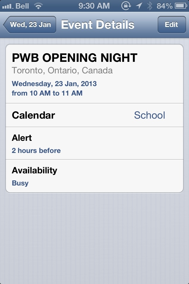 PWB AFRICA OPENING NIGHT IS WEDNESDAY: JANUARY 23, 2013!! COME MEET THE CREW AND HAVE A GREAT TIME!!