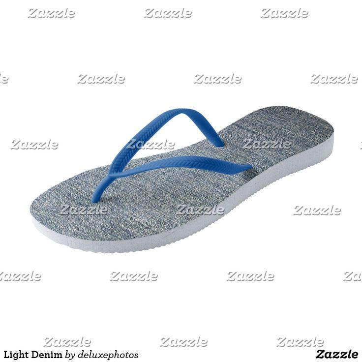 Light Denim Flip Flops