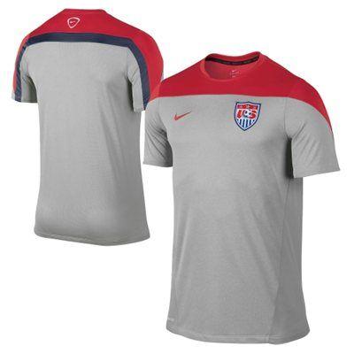 Nike USA 2013-14 Squad Training Performance Jersey - Gray