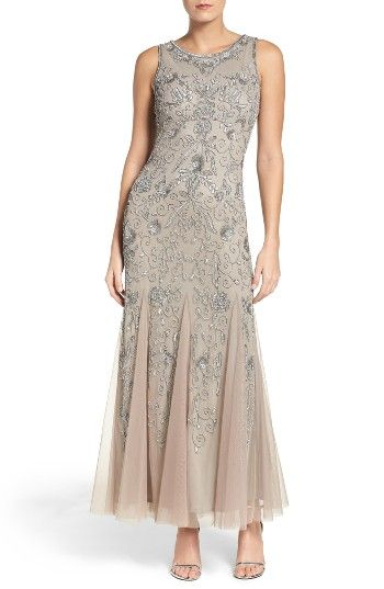 Free shipping and returns on Pisarro Nights Mermaid Gown (Regular & Petite) at Nordstrom.com. Entrancing patterns of embroidered beads and sequins light up this sleek evening gown inset with mesh godets that come to life when you twirl.