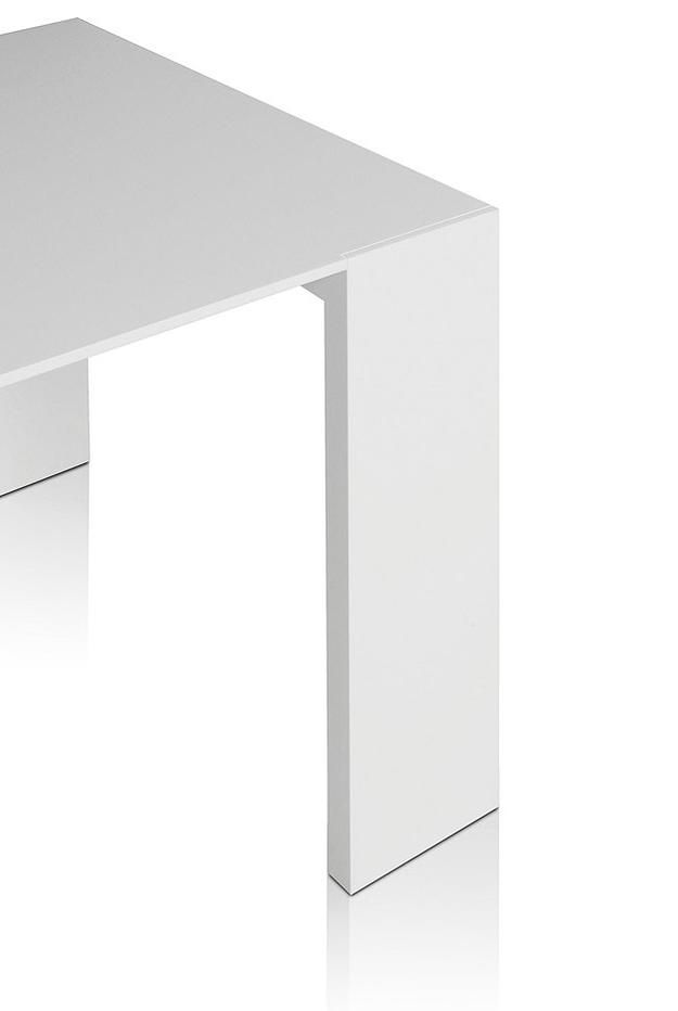 White table simple and minimal design language table for Minimal table design