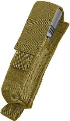 Tactical Assault Gear MOLLE 2 Battery Flashlight Pouch Coyote Tan 812112