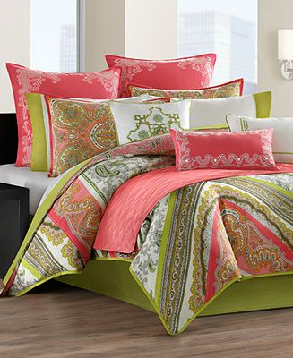 Echo Bedding, Gramercy Paisley Comforter and Duvet Sets - Bedding Collections - Bed & Bath - Macy's
