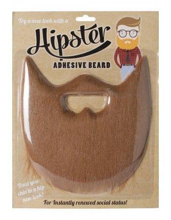 Fausse barbe hipster rousse - Déguisement Hipster - Se déguiser en Hipster